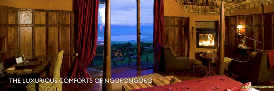 Bedroom at Ngorongoro Crater Lodge, Tanzania