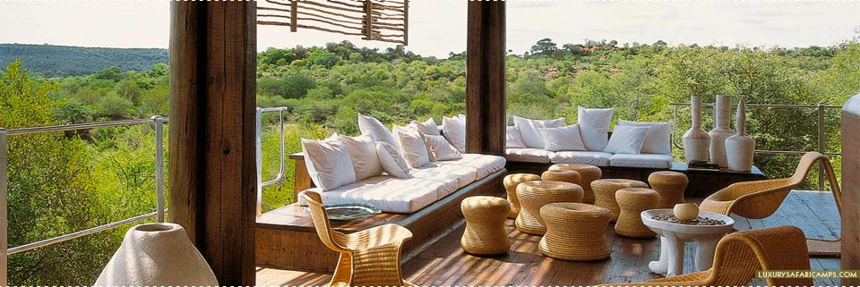 Lounge at Singita Lebombo Lodge