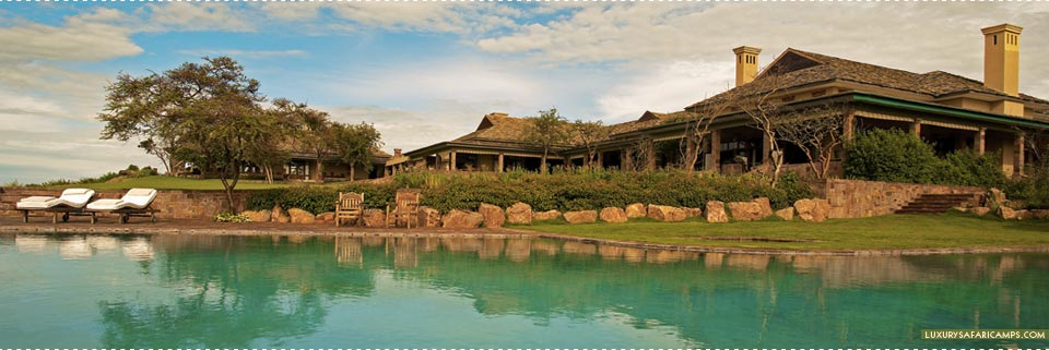 Exterior view of deck at Singita Sasakwa Lodge