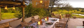 Elegant safari dining at Singita Faru Faru Lodge