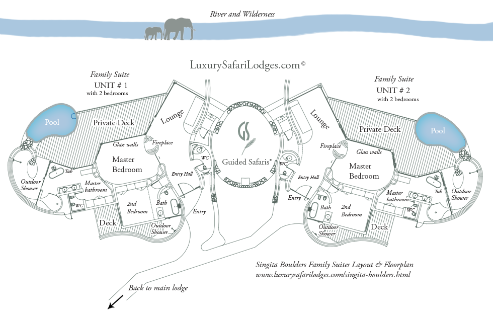 Singita Boulders Suites Family Suites Floorplan